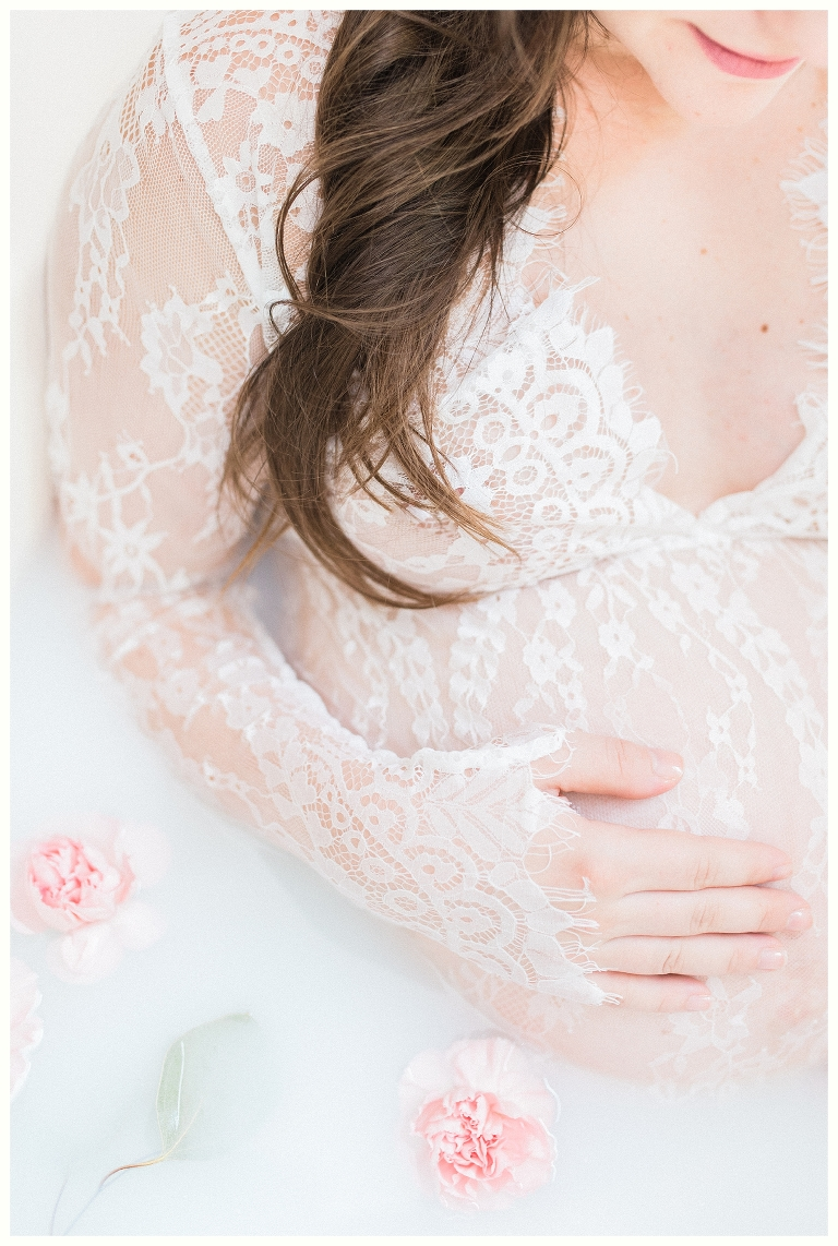 Milk Bath Maternity Session- Nashville Maternity Photographer