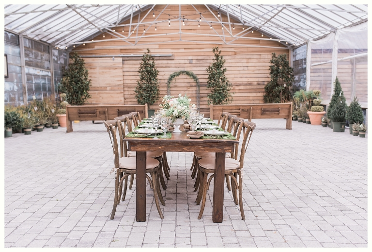 Earthy Elegance Greenhouse Wedding Long Hollow Gardens